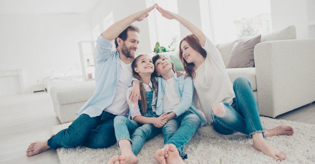 Wohnfläche für Familie mit Kind
