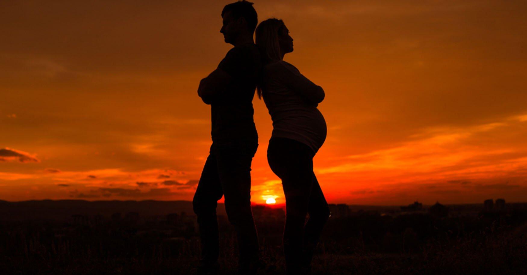 Trennung während der Schwangerschaft