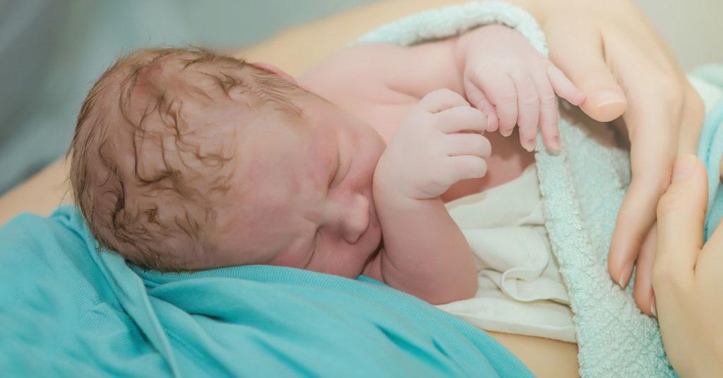 Geburt eines Babys