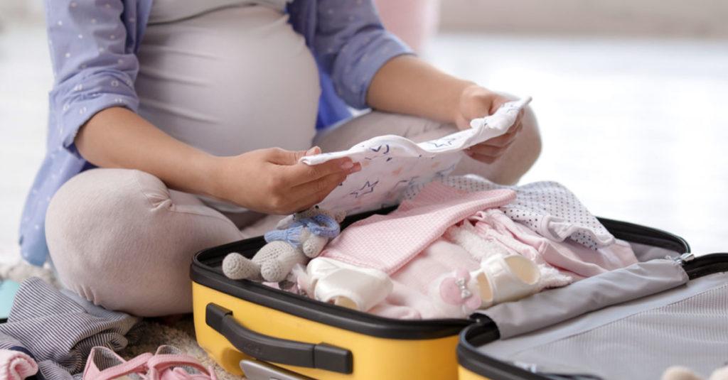 Krankenhaustasche für die Geburt