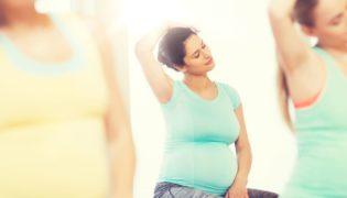 Schwangerschaftsgymnastik vor der Geburt