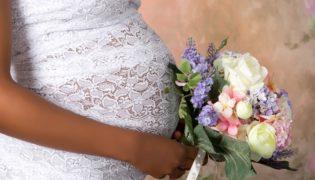 Hochzeit und schwanger