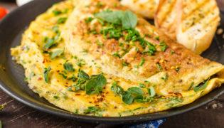 Kräuter-Käse-Omelette